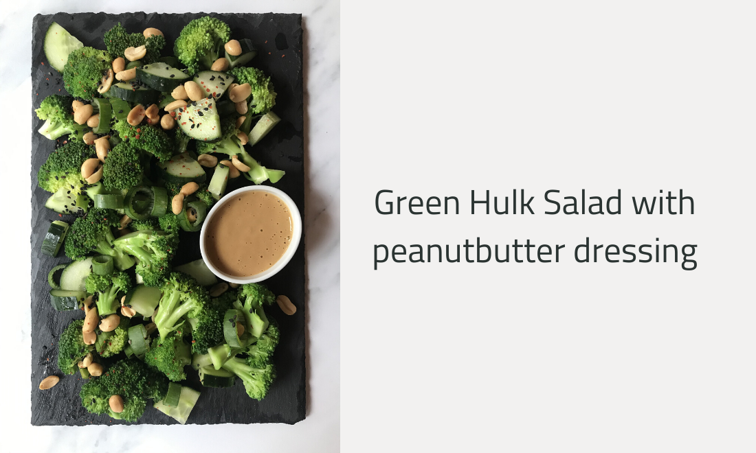 Green Hulk Salad with peanutbutter dressing