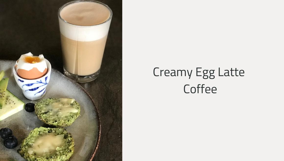 Creamy Egg latte coffee